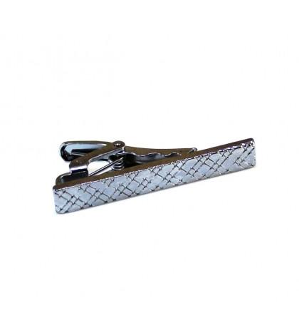 Зажим для галстука стальной короткий