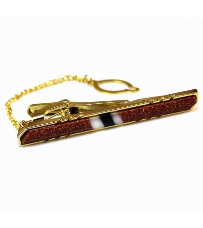 Зажим для галстука коричневый