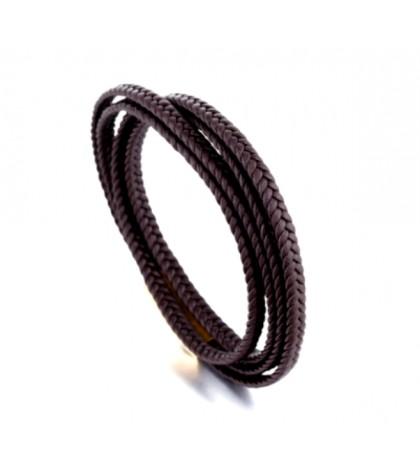 Браслет-намотка с магнитной застежкой коричневый