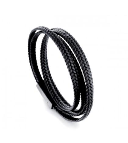 Браслет-намотка с магнитной застежкой черный