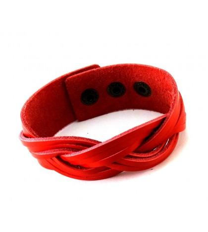 Браслет волнообразный красный