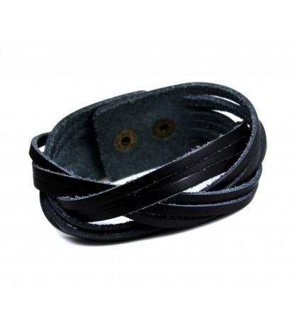 Браслет волнообразный черный