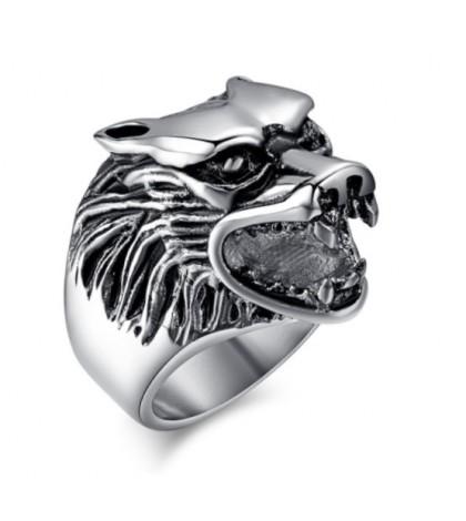 Печатка волк из ювелирной стали