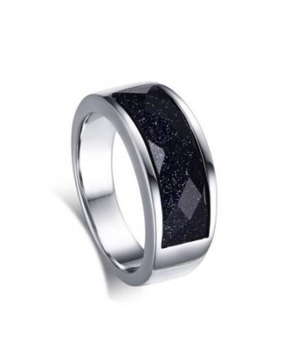 Кольцо из ювелирной стали с авантюрином