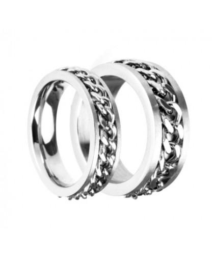 Кольцо крутящееся из ювелирной стали