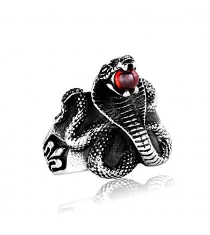 Кольцо Кобра из ювелирной стали