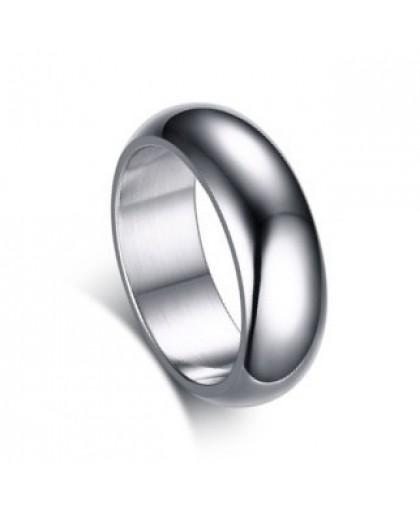 Кольцо классическое из ювелирной стали