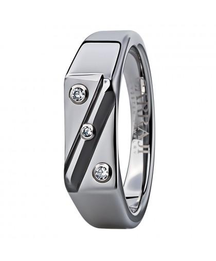 Кольцо из карбида вольфрама  в форме печатки