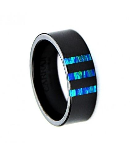 Кольцо из Hi-Tech керамики с опалом