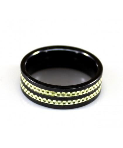 Кольцо   из Hi-Tech керамики с карбоном