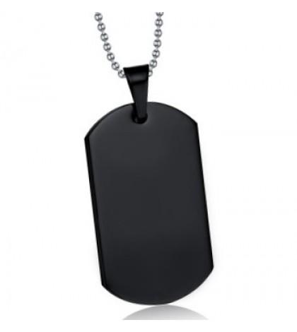 Кулон для гравировки черный