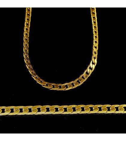 Цепочка из ювелирной стали панцирного плетения золотистая