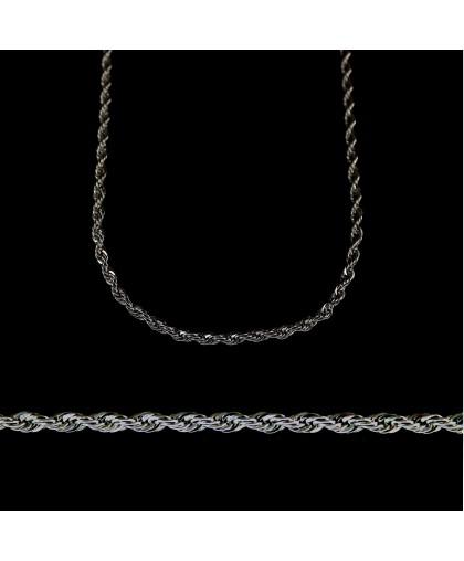 Цепочка из ювелирной стали с веревочным плетением