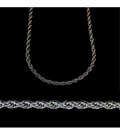 Цепочка из ювелирной стали с веревочным плетением длинная
