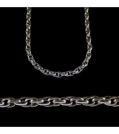 Цепочка из ювелирной стали с кордовым плетением