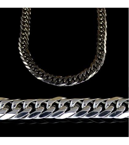 Цепочка из ювелирной стали панцирного плетения