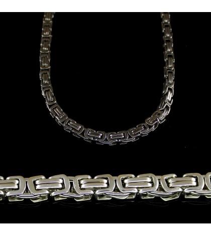 Цепочка из ювелирной стали с византийским плетением тонкая